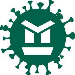 sticker autocollant virus