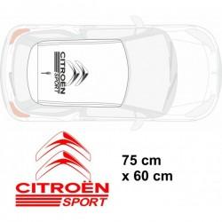 Autocollant de toit Citroën Sport