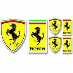 Planche autocollants Ferrari