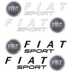 autocollants Fiat Sport
