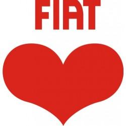 Autocollants I Love Fiat