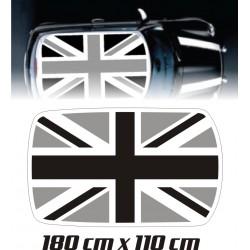 Kit déco Anglais toit de Mini Cooper Noir et gris