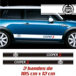 Autocollants Bandes Laterales de Mini Cooper S avec Laurier