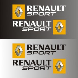 2 autocollants Renault Sport