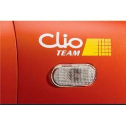 2 Autocollants Clio Team - 15 cm x 5 cm