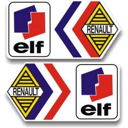 2 Stickers Renault Elf