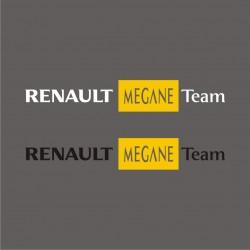 1 Sticker Renault Megane Team - Taille et Coloris au choix