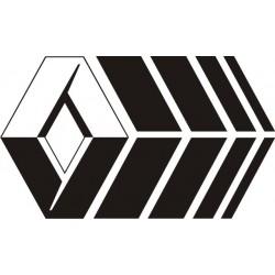 Sticker Renault Losange Sport - Taille et Coloris au choix