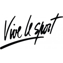 Sticker Vive le Sport - Taille et Coloris au choix