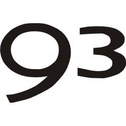 Sticker SAAB 93 - Taille et Coloris au choix