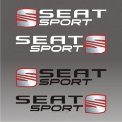 2 autocollants Seat Sport - Taille et coloris au choix