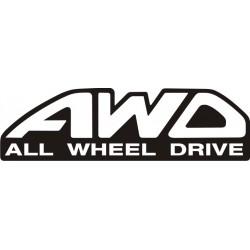 Sticker AWD 1 - Taille et Coloris au choix