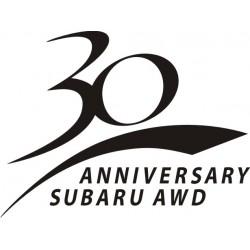 Sticker Subaru 30 ans - Taille et Coloris au choix
