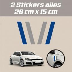 2 Stickers ailes Volkswagen