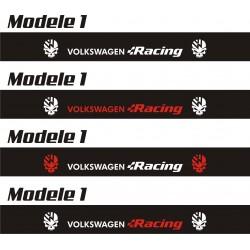 Bande pare soleil Volkswagen Racing 2 - 130 cm x 15 cm