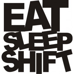 Sticker JDM Eat Sleep Shit - Taille et Coloris au choix