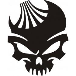 Sticker Crâne Daewoo - Coloris et Taille au choix