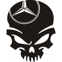Sticker Crâne Mercedes - Coloris et Taille au choix
