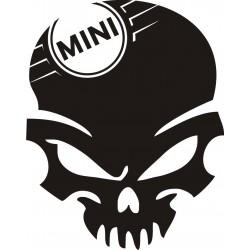 Sticker Crâne Mini Cooper - Coloris et Taille au choix