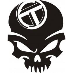 Sticker Crâne Talbot - Coloris et Taille au choix