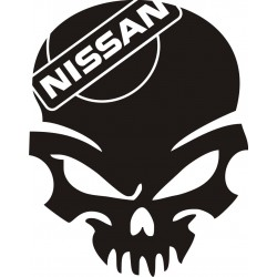 Sticker Crâne Nissan - Coloris et Taille au choix