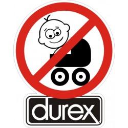 Stop bébé préservatif Durex - Taille au choix
