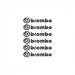 Brembo - 6 Stickers pour étriers