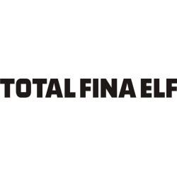 Sticker Total Fina Elf - Taille et Coloris au choix