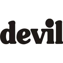 Autocollant Devil - Taille et Coloris au choix