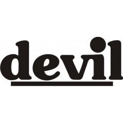 Autocollant Devil 2 - Taille et Coloris au choix