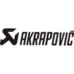 Autocollant AKRAPOVIC 1 - Taille et Coloris au choix