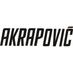 Autocollant AKRAPOVIC 2 - Taille et Coloris au choix