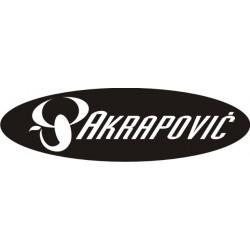 Autocollant AKRAPOVIC 5 - Taille et Coloris au choix
