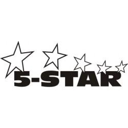 Autocollant 5 Star Exhaust - Taille et Coloris au choix