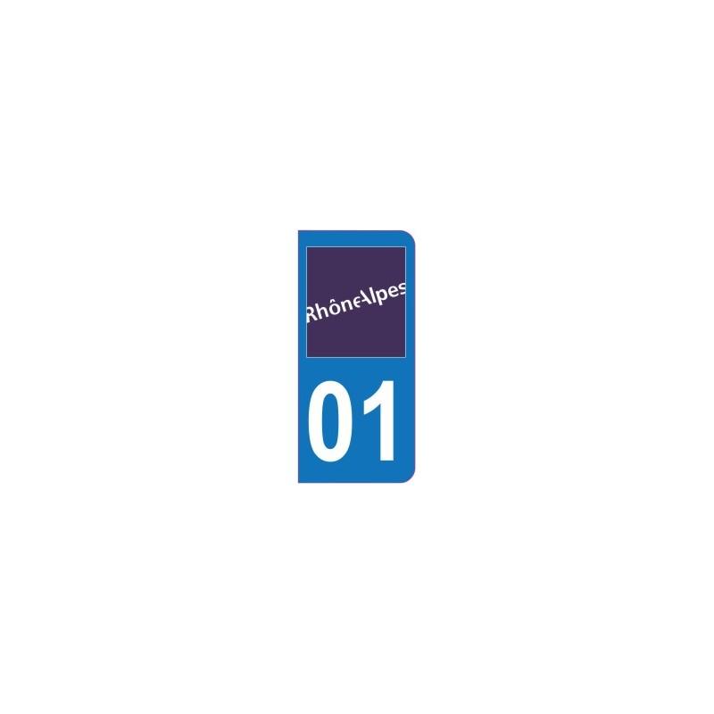 Sticker immatriculation 01 - Ain