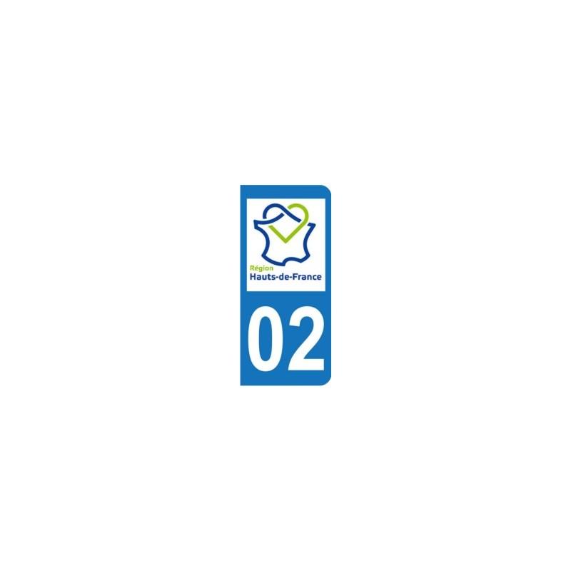 Sticker immatriculation 02 - Nouvelle région Hauts-de-France