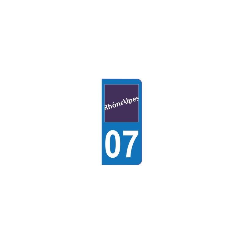 Sticker immatriculation 07 - Ardèche