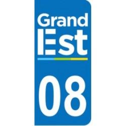 Sticker immatriculation 08 - Grand-Est