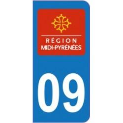 Sticker immatriculation 09 - Ariège