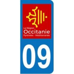Sticker immatriculation 09 - Occitanie