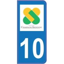 Sticker immatriculation 10 - Aube