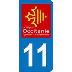 Sticker immatriculation 11 - Occitanie