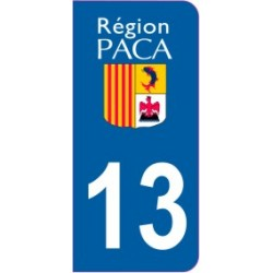 Sticker immatriculation 13 - Bouches du Rhône