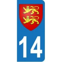 Sticker immatriculation 14 - Blason Normandie