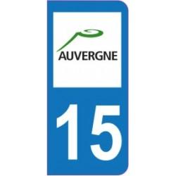 Sticker immatriculation 15 - Cantal