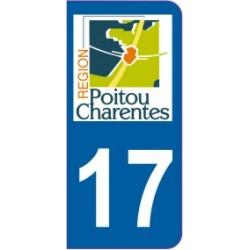 Sticker immatriculation 17 - Charente maritime