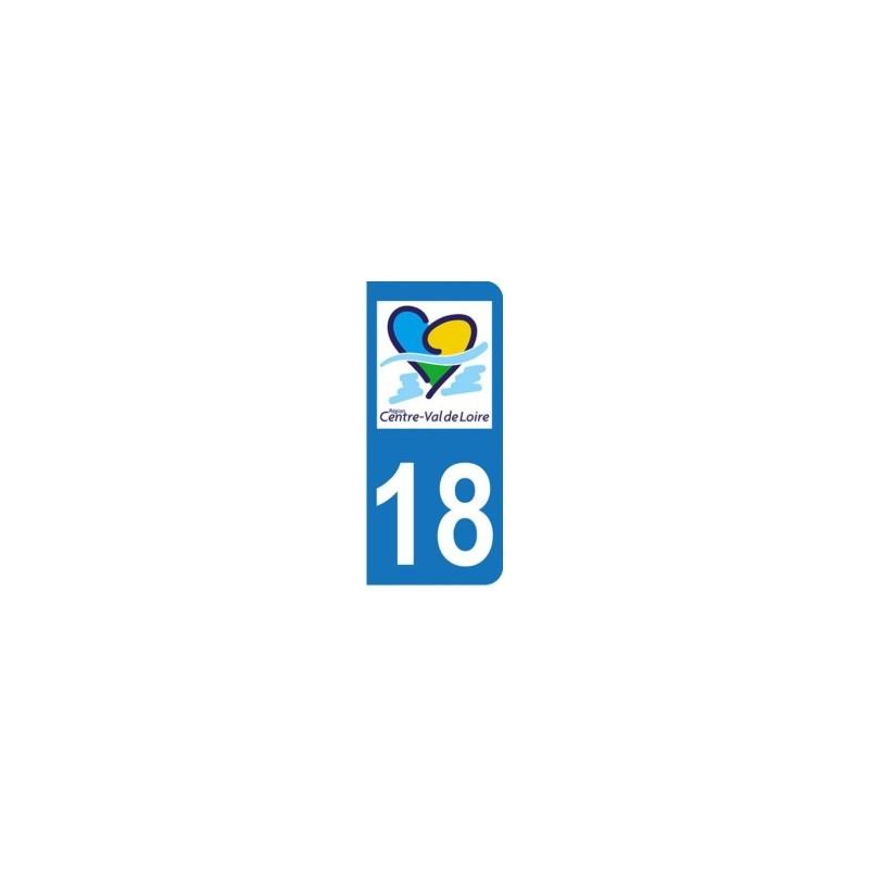 Autocollant Moto immatriculation 18 Centre val de Loire