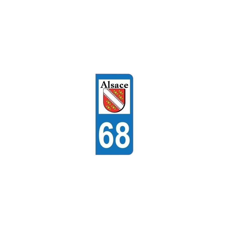 Auto, Moto – Pièces, Accessoires 68 Haut-rhin Alsace Departement Immatriculation 2 X Autocollants Sticker Auto
