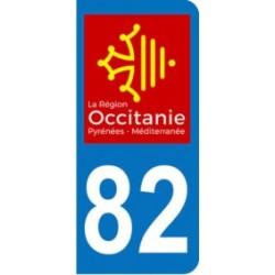 Sticker immatriculation 82 - Occitanie