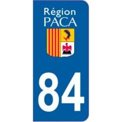 Sticker immatriculation 84 - Vaucluse